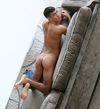 charming muscle guy naked