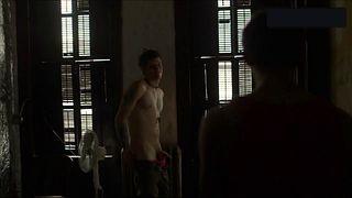 Bizarre naked scene
