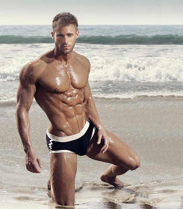 Sexy muscular guy print