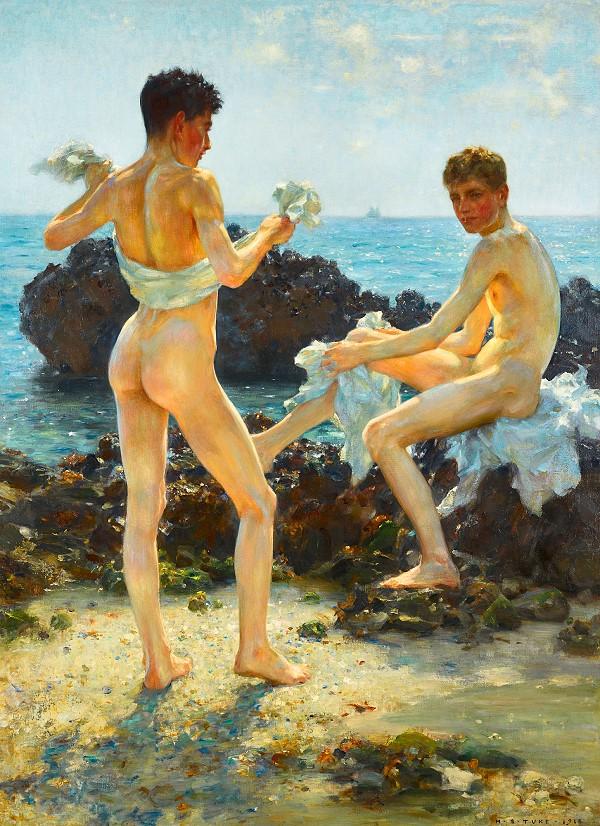 male nudists gay art print