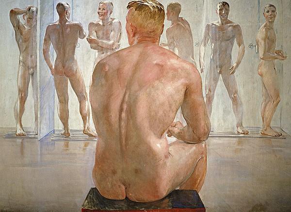 soldiers showering gay art