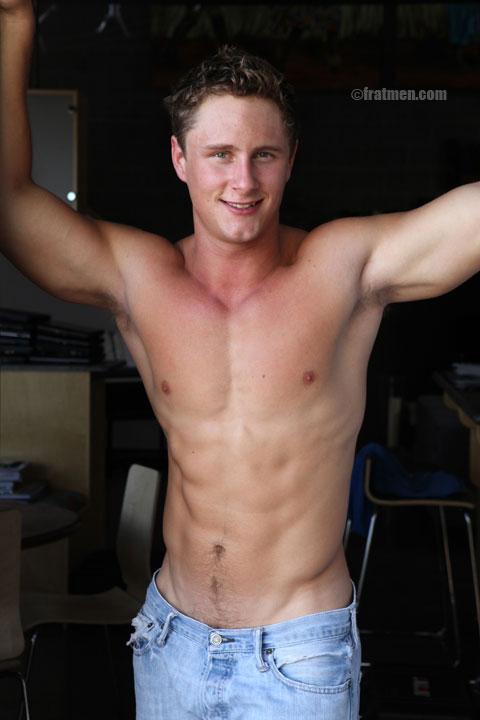 Sexy fratmen model Clayton new naked gallery