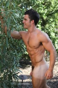 Fratmen model Trent posing naked