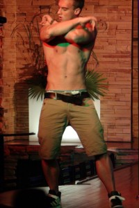 Male striptease show