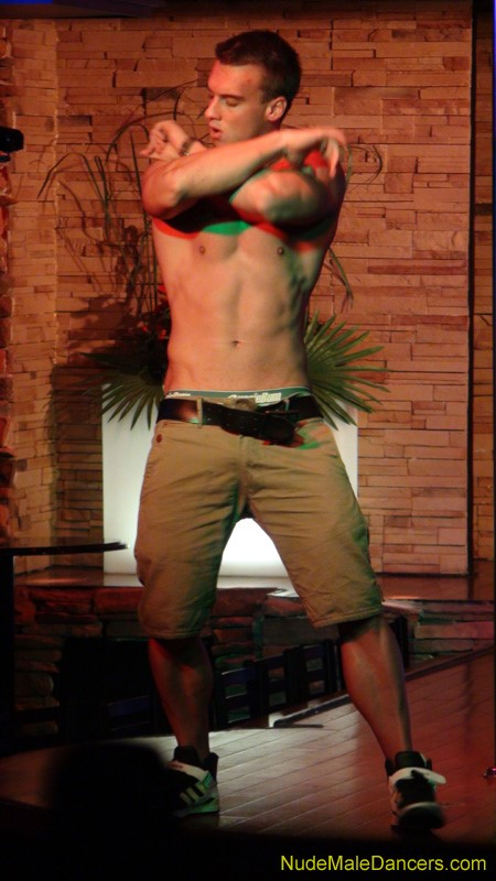 Male striptease show