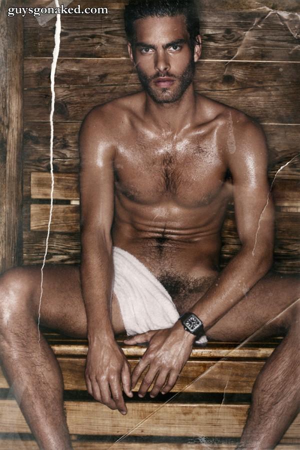hunk naked sauna