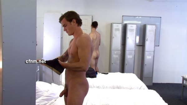 handsome naked men naked in a hostel