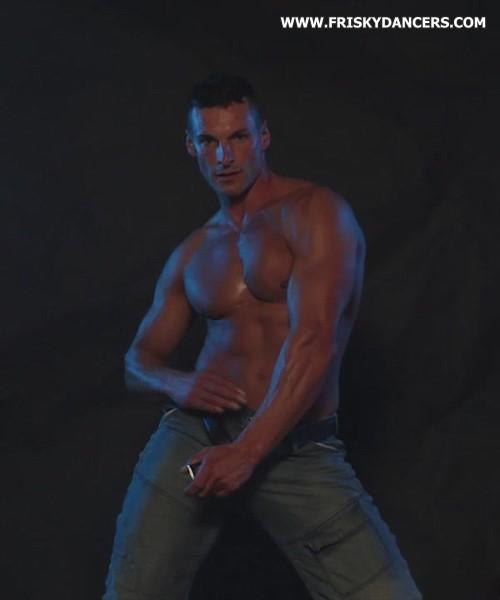 Spanish male stripper Cristian