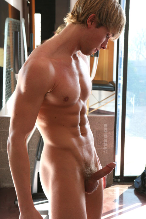 muscle boy erected cock