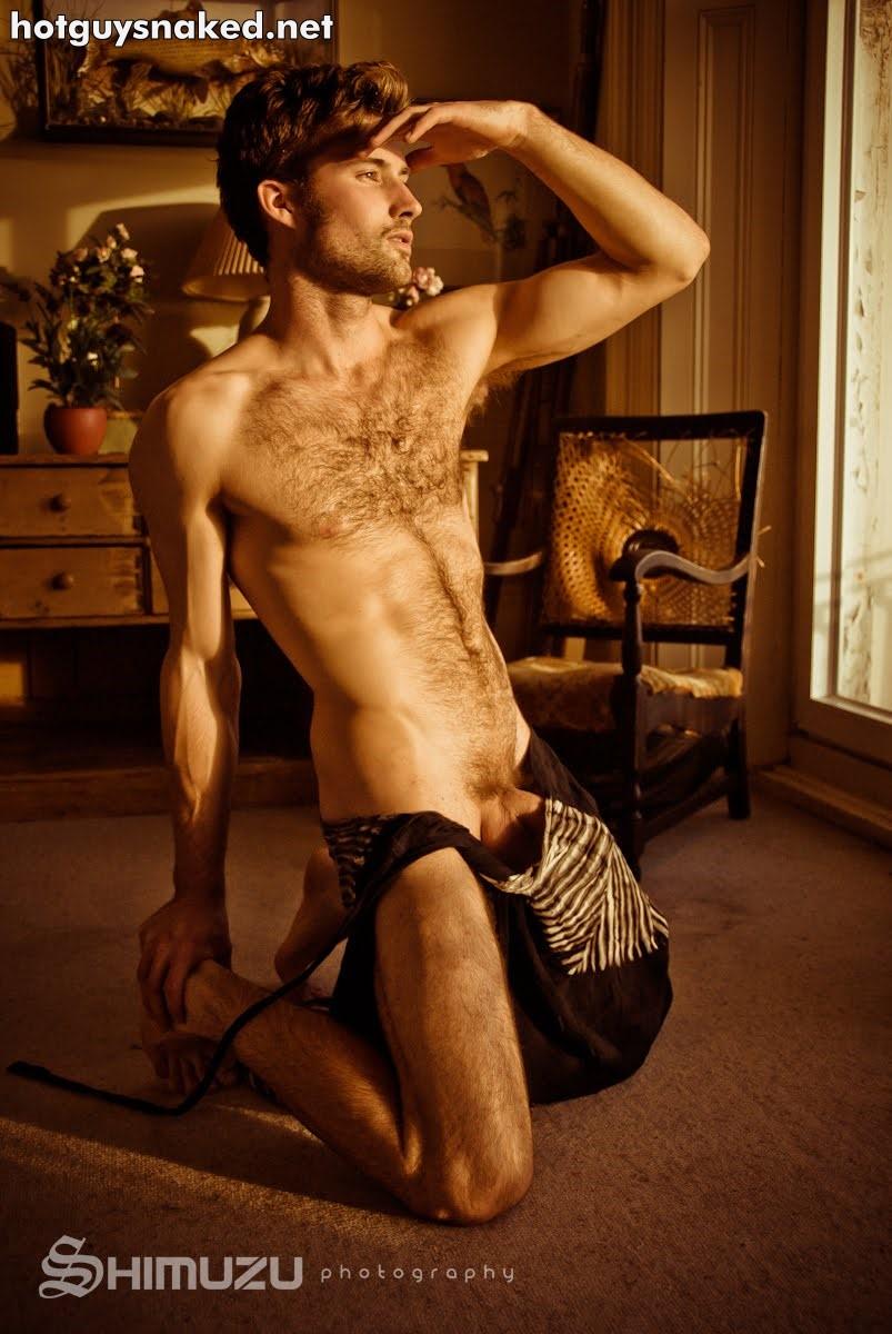hairy male model