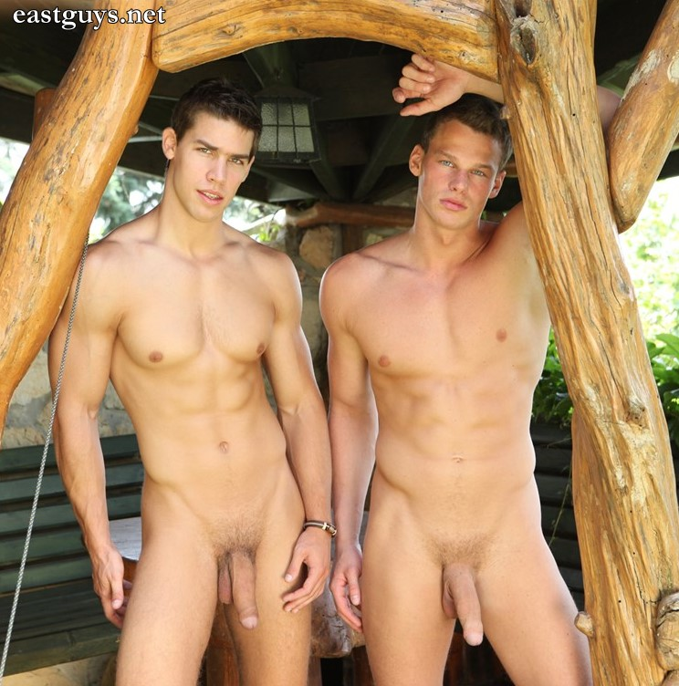 two male models naked with huge cocks