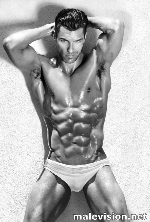 beautiful muscular male model in sensual sexy pose