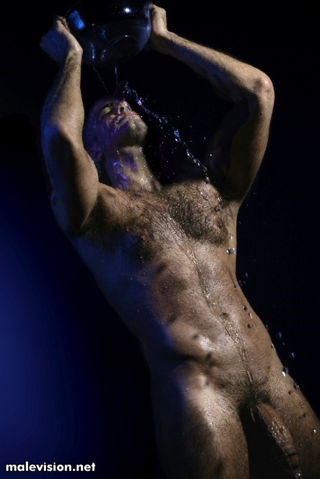Hairy man naked by Gio